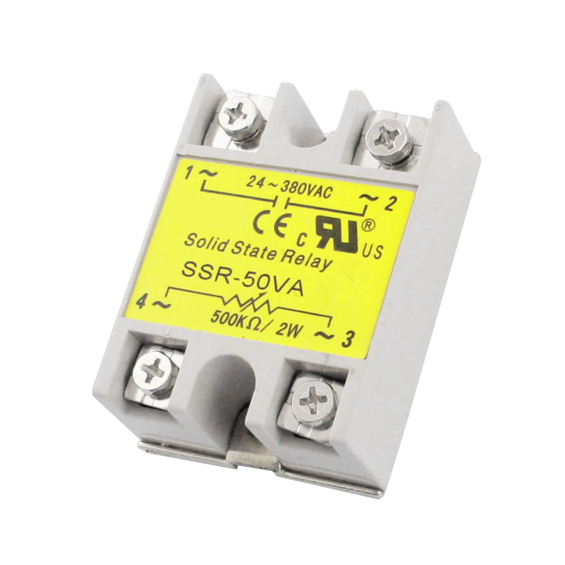 SSR-50VA 500K Ohm/2W Input AC24-380V Output 50VA Metal Base Single Phase Resistance Type Adjustable Solid State Relay