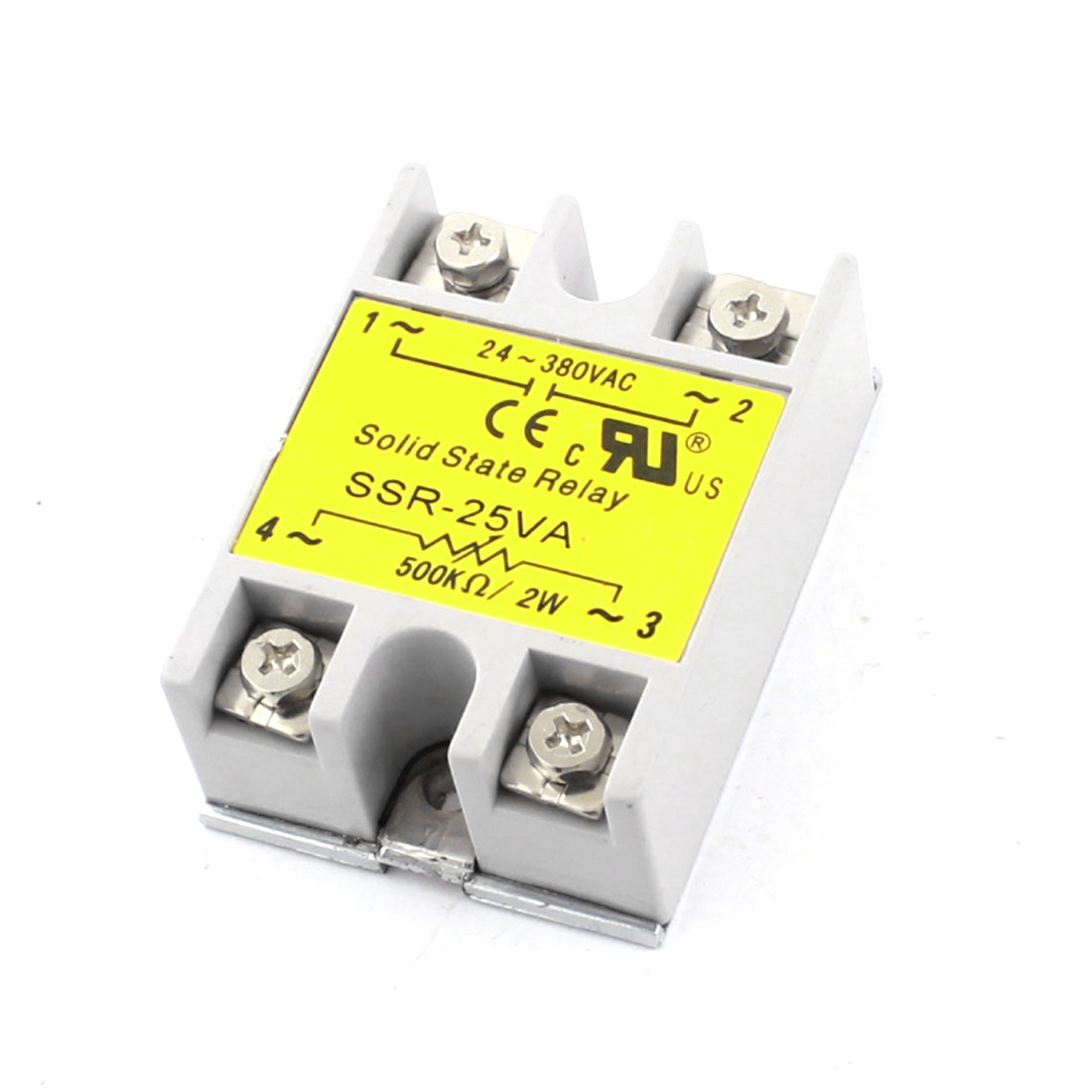 SSR-25VA AC24-380V Output 500K Ohm/2W Input 25VA Metal Base Single Phase Resistance Type Adjustable Solid State Relay