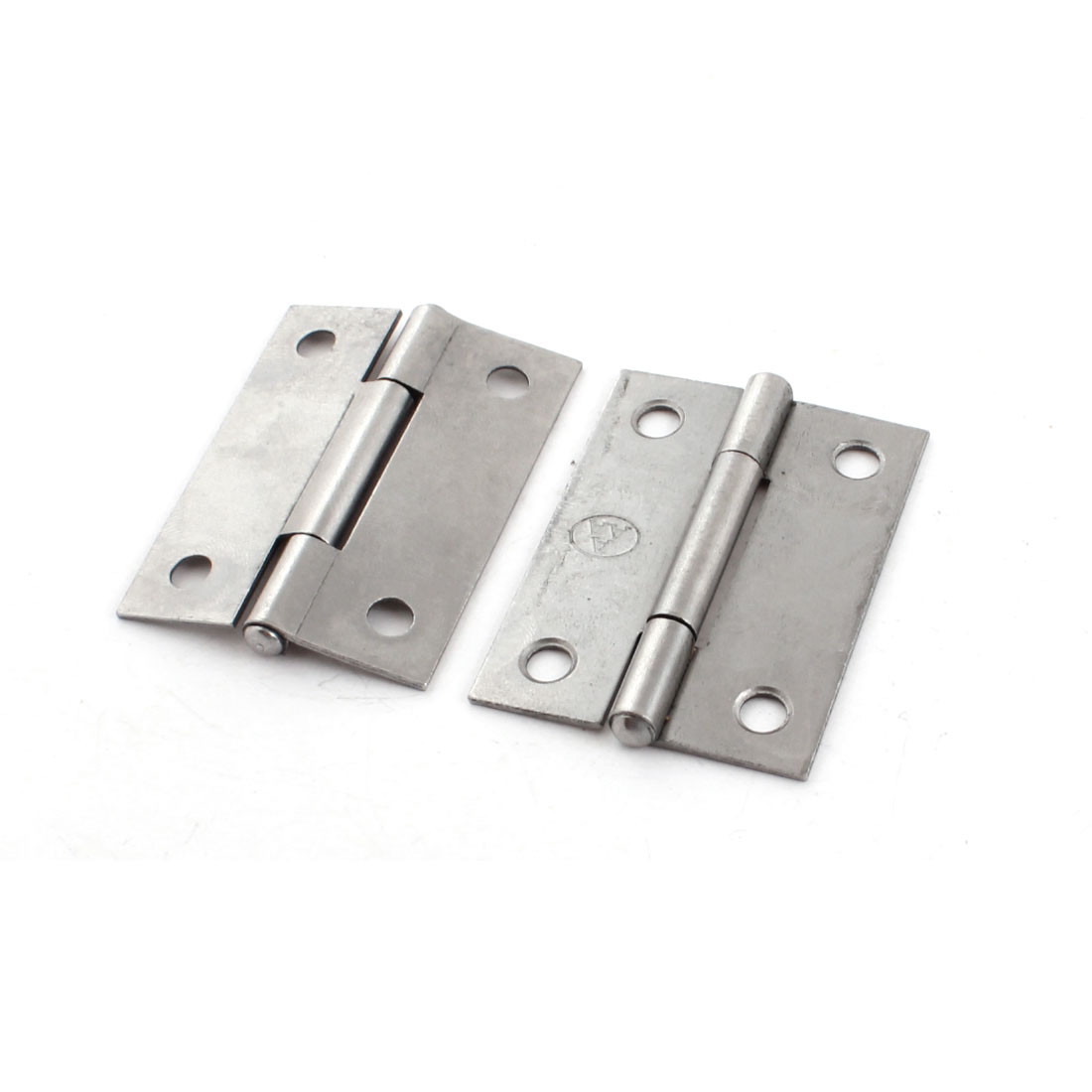 2Pcs 5mm Mounting Hole 50x35x4mm Metal Folding Door Hinge for Cupboard Cabinet