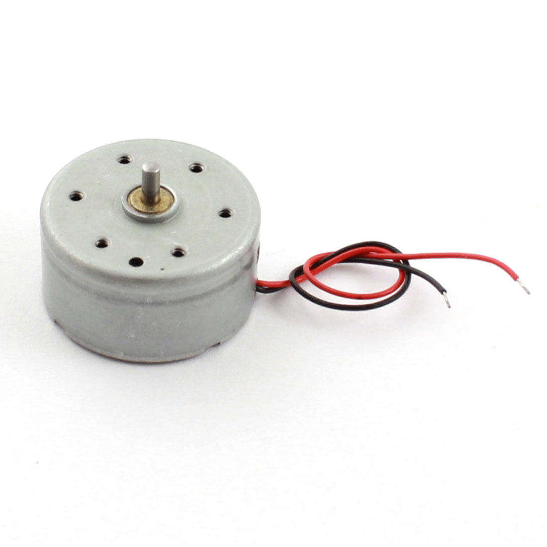 6V 10000 RPM 2mm Round Shaft 7cm Long Wire Leads Cylinder Shaped Magnetic Electric Miniature DC Motor