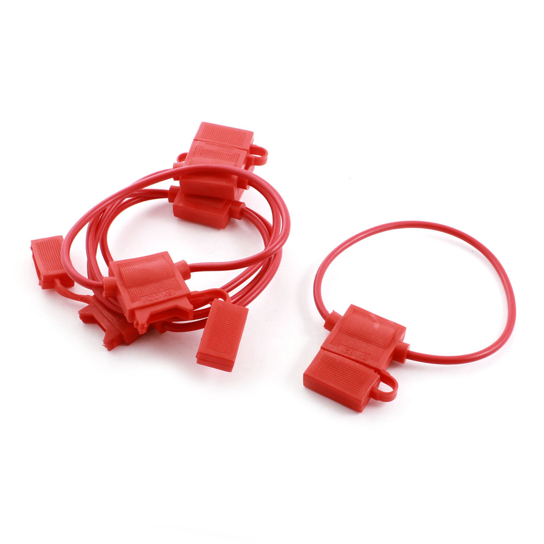 5Pcs Red Plastic Shell ATC Blade Inline Wired Fuse Holder Case Box for Auto Car