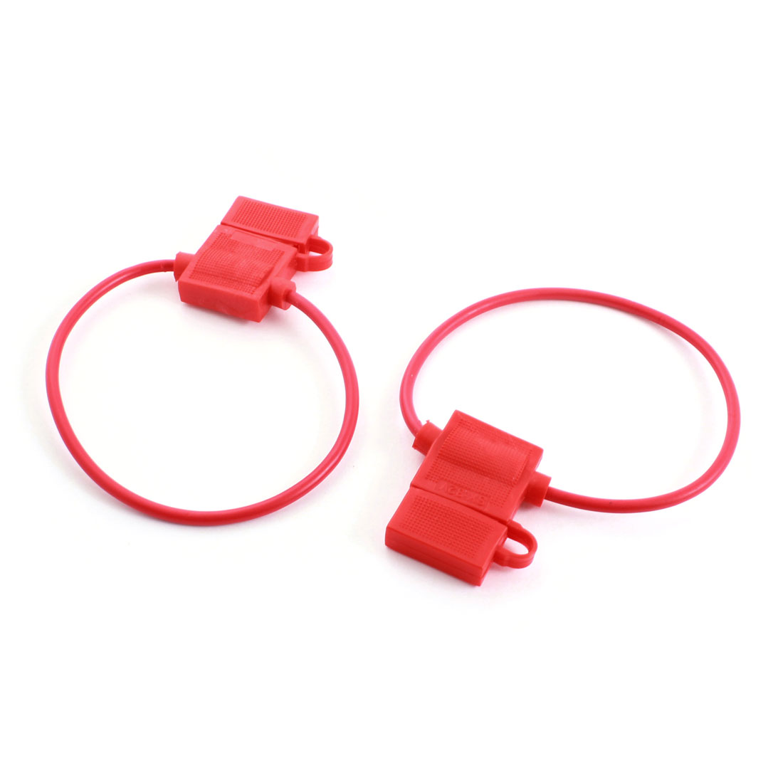 2 Pcs Red Plastic Housing ATC Blade Inline Wired Fuse Holder Case Box for Vehicle