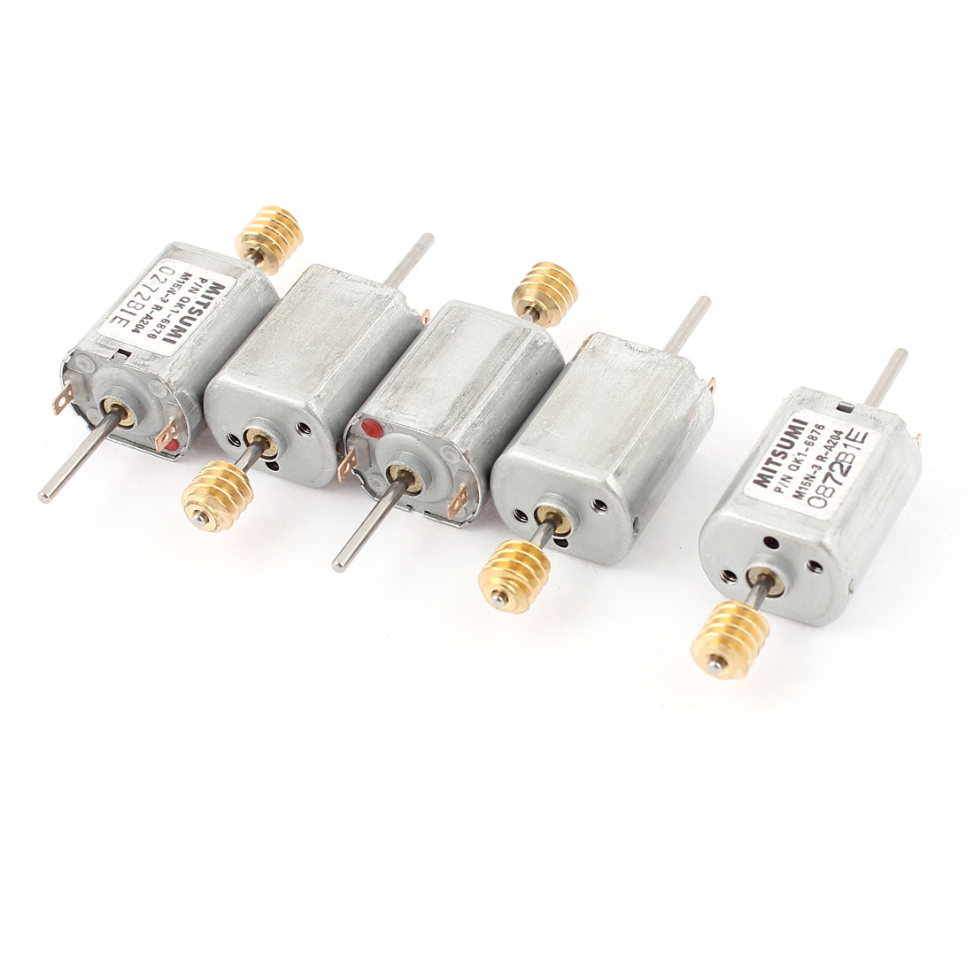 5pcs 12V 13500 RPM Speed 1.5mm Shaft Dual Axle Cylinder Micro Electric DC Worm Motor for DIY Toy