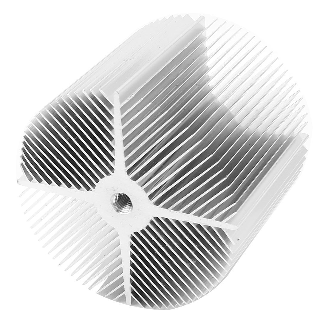 Silver Tone Aluminum Heat Sink Heatsink 90x76mm for LED Light Lamp