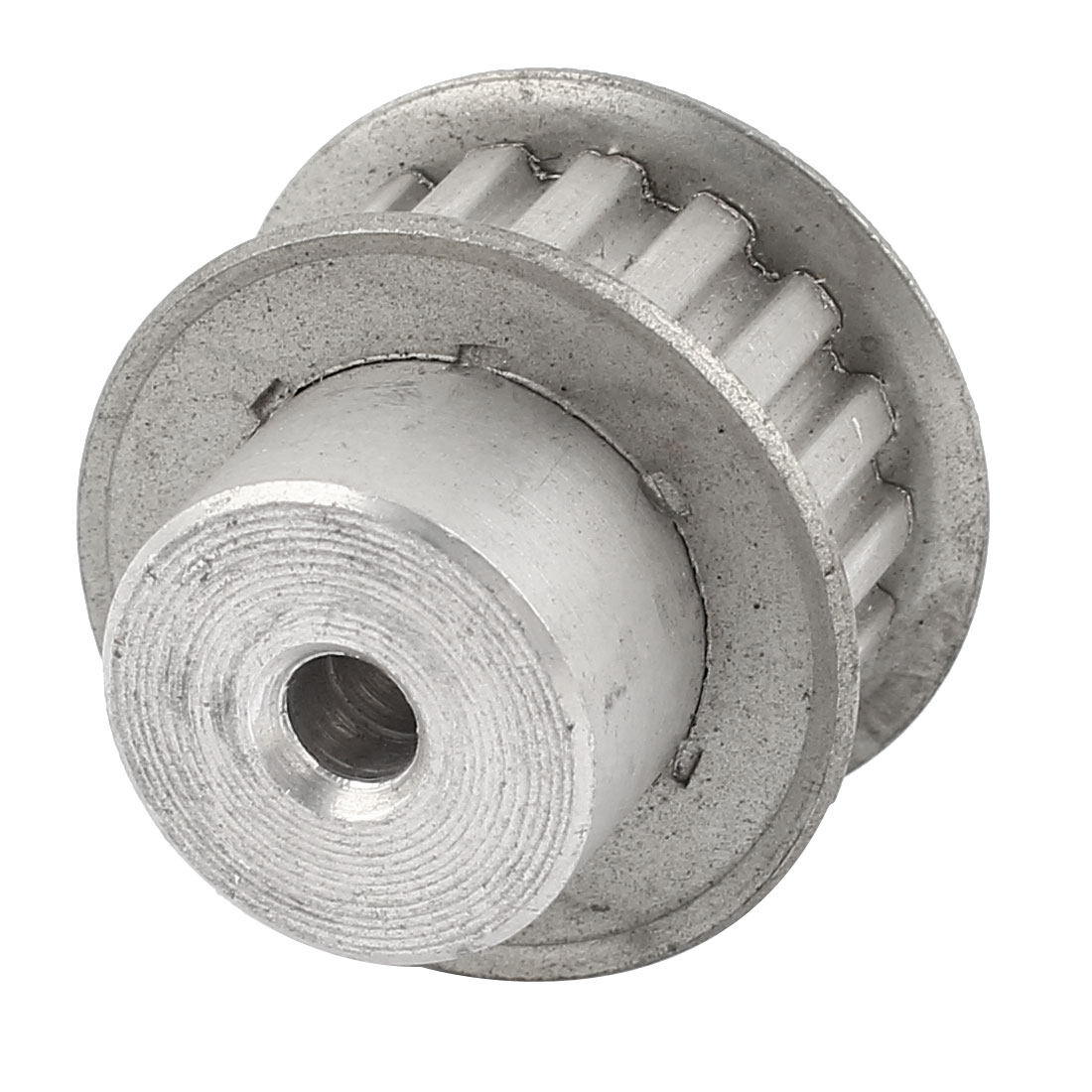 Aluminum Alloy XL Type 17 Teeth 5mm Bore Dia Double Flanged Motor Drive Synchronous Timing Pulley