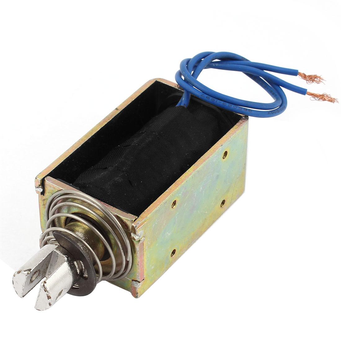 DC 12V 10mm 55N Open Frame Pull Type Solenoid Electromagnet Actuator