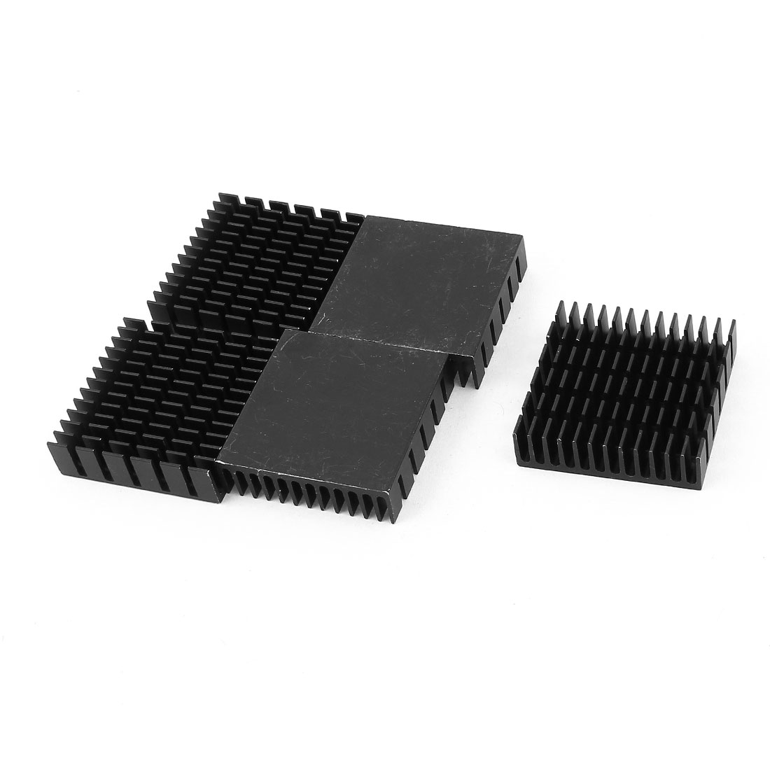 5 Pcs Black Aluminum Radiator Heat Sink Heatsink 40x40x11mm