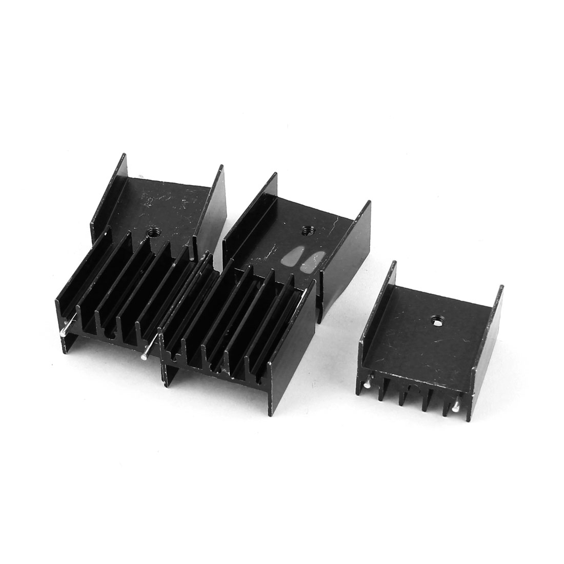 5 Pcs Black Aluminum Heat Sink 25x23x16mm for TO-220 Transistors