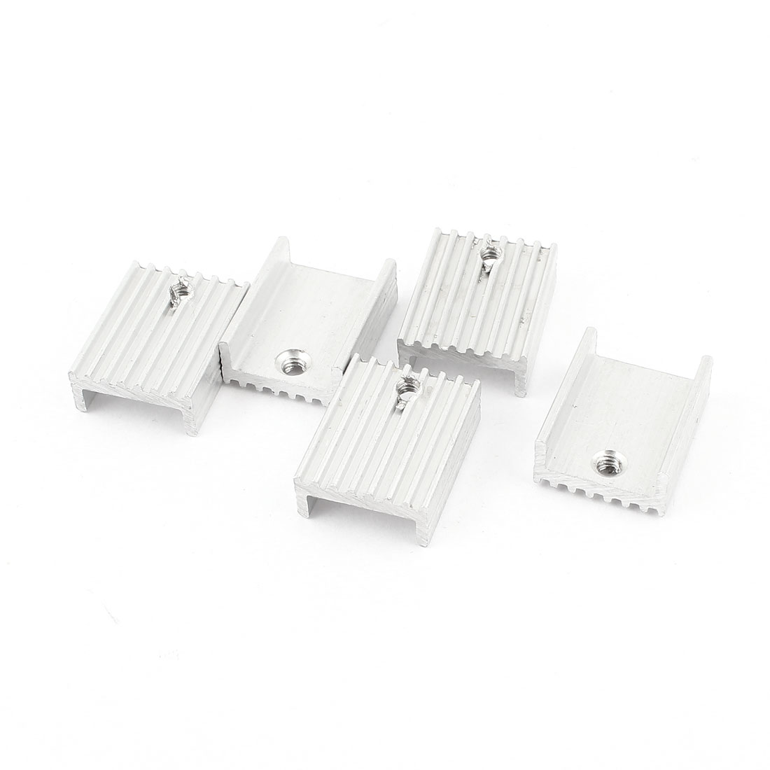 5 Pcs Silver Tone Aluminum Heat Sink 20x15x7mm for TO-220 Transistors