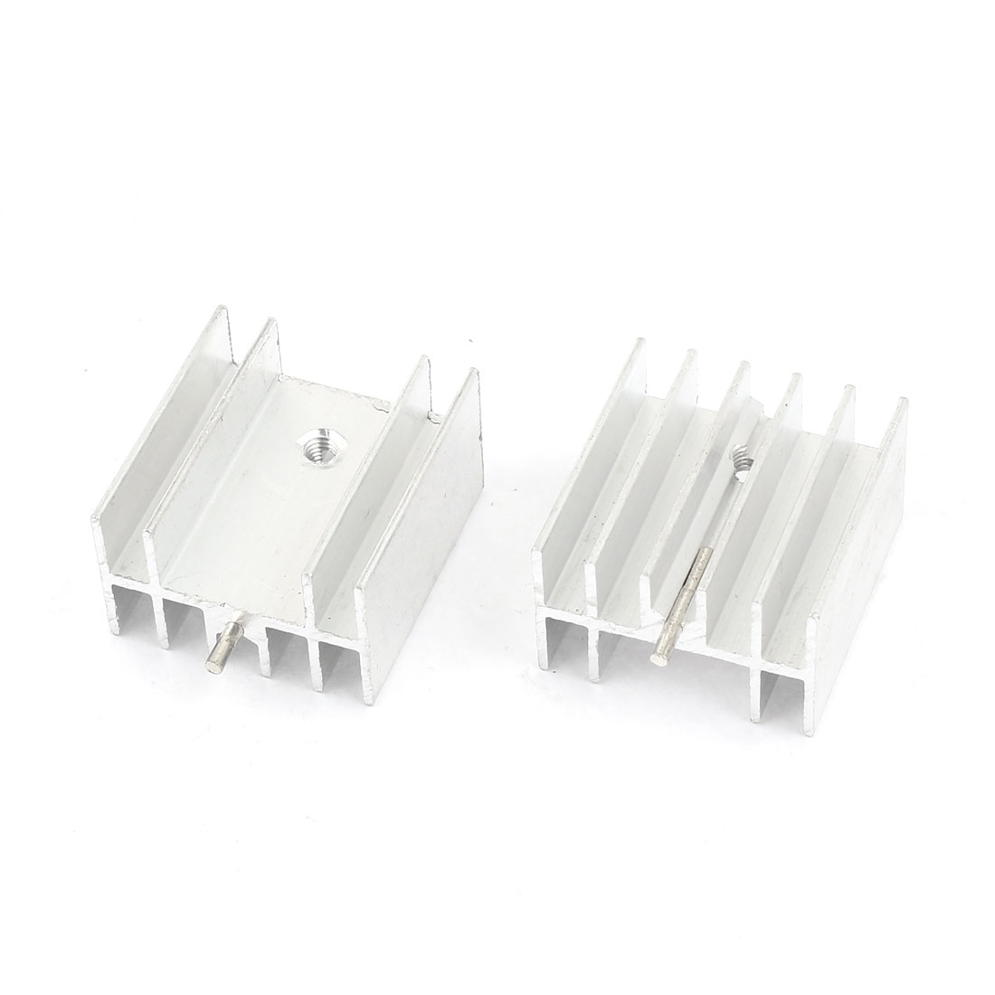 2 Pcs Silver Tone Aluminum Heat Sink Heatsink 23x16x25mm for TO220 Transistor