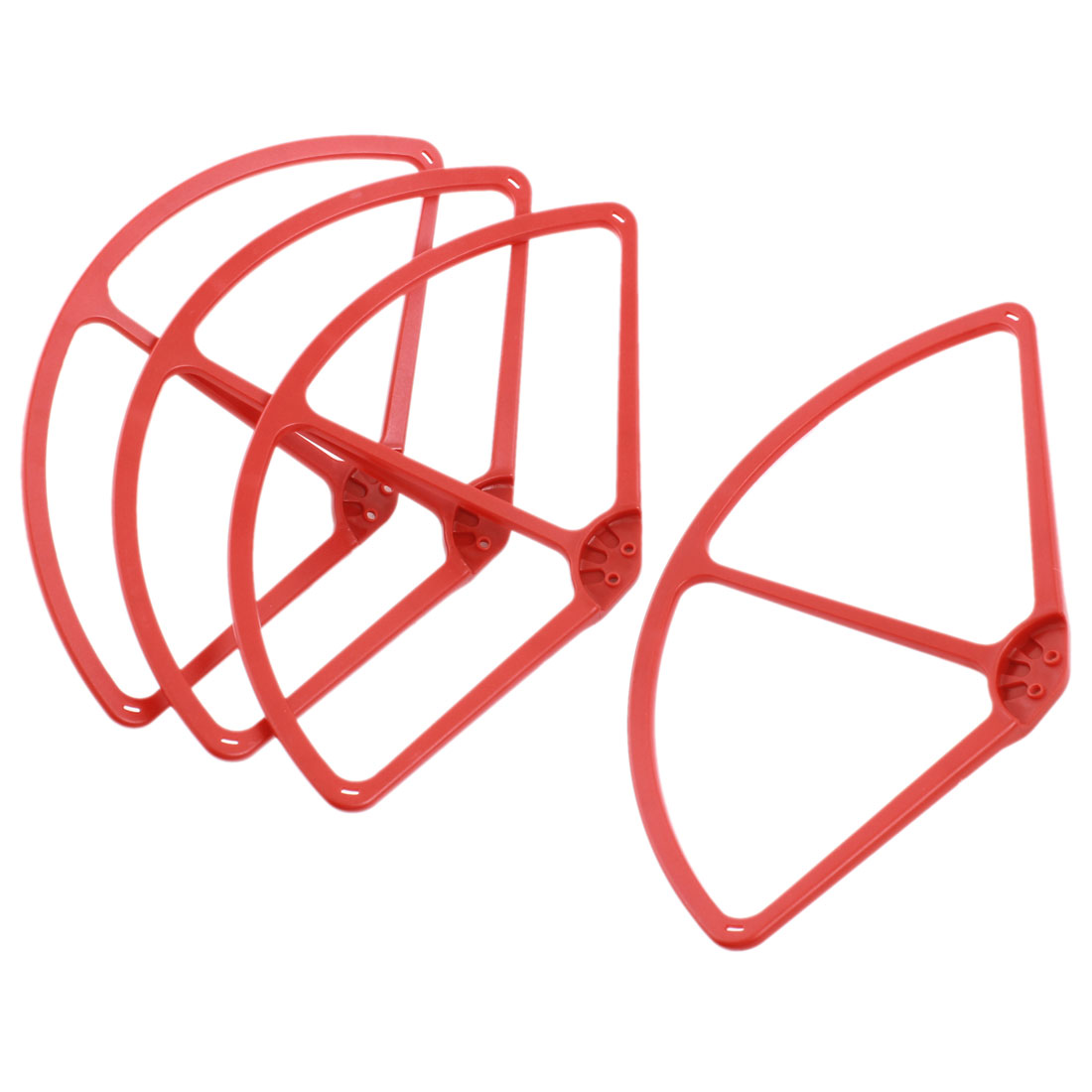 "4 Pcs Red Plastic Propeller Prop Protective Guard Bumper 9"" for DJI Phantom 2 Vision Quadcopter"