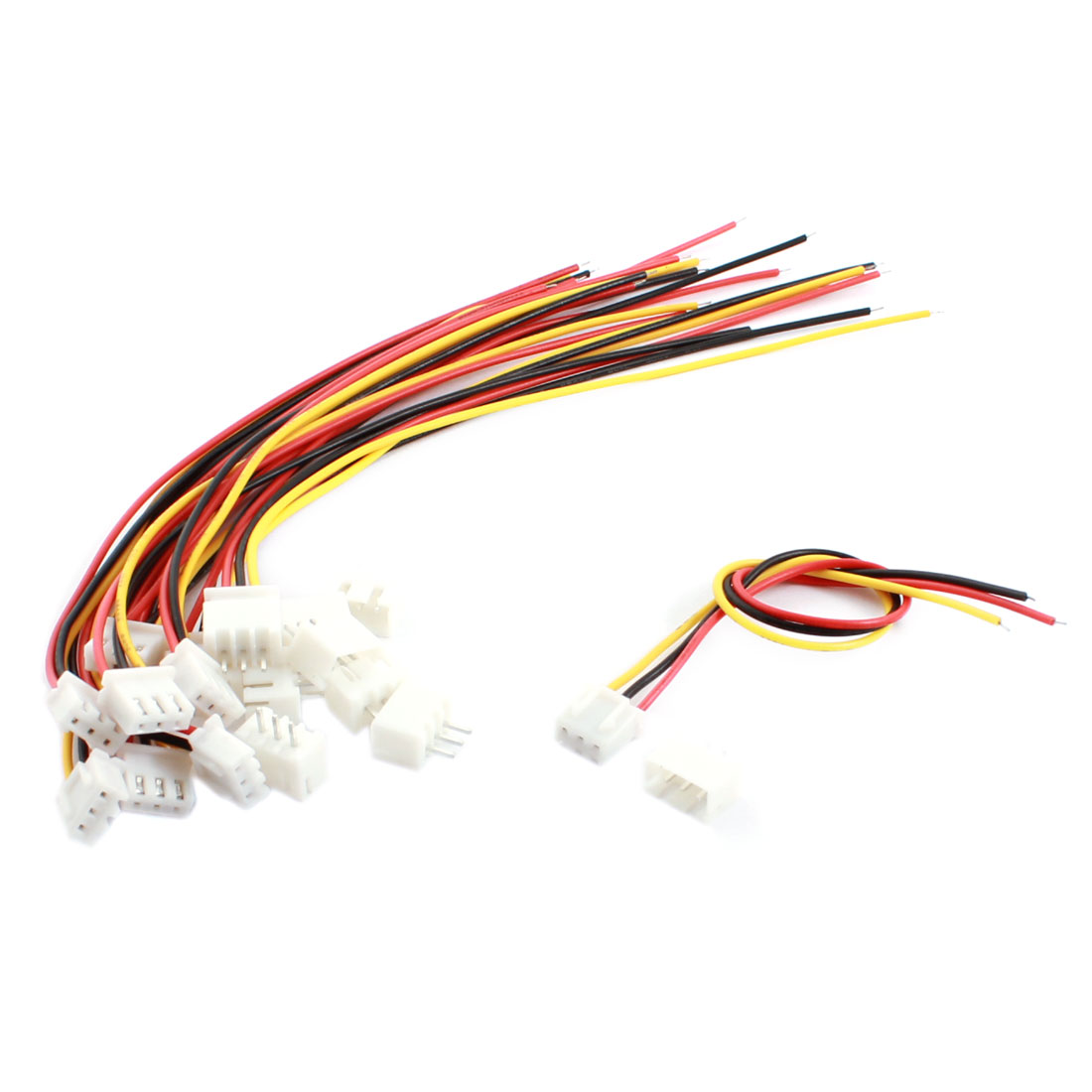 10 Pcs RC 2S Lipo Battery JST-EH Connnector Balance Charger Cable Adapter Extension Lead 16cm