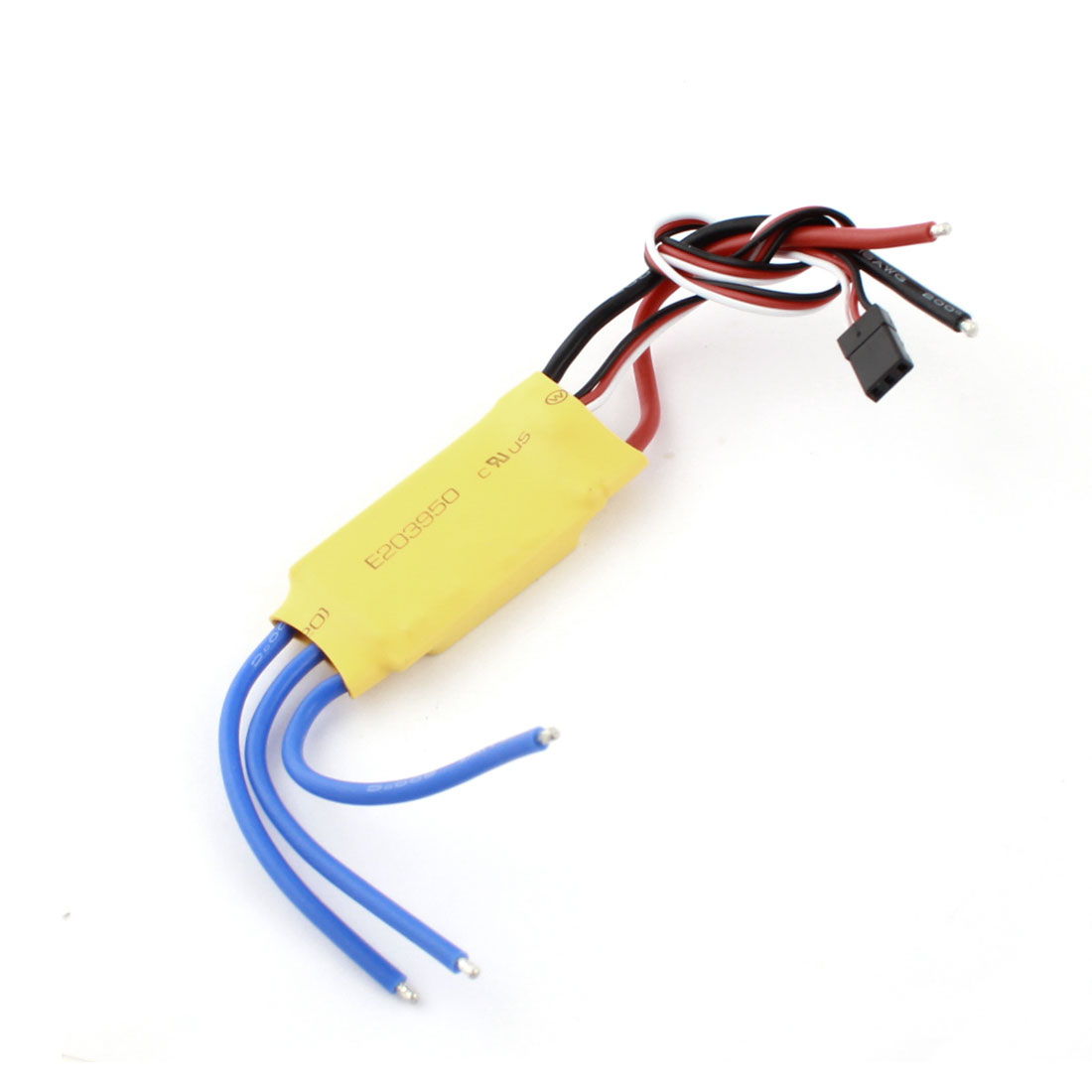 30A Brushless Motor Speed Controller Regulator BEC ESC Yellow for RC Helicopter