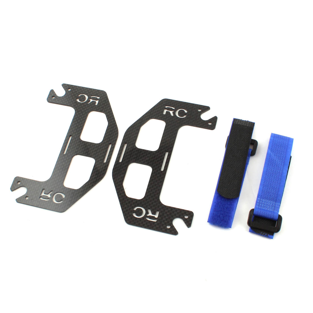 Carbon Fiber Double Battery Mount Extended Plate Board Black for DJI Phantom Quadcopter