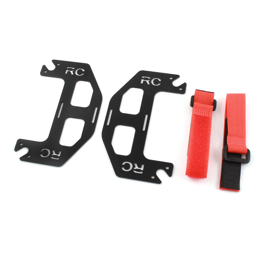 Spare Part Dual Battery Glass Fiber Mount Extended Plate Board w Red Bind Strap for DJI Phantom