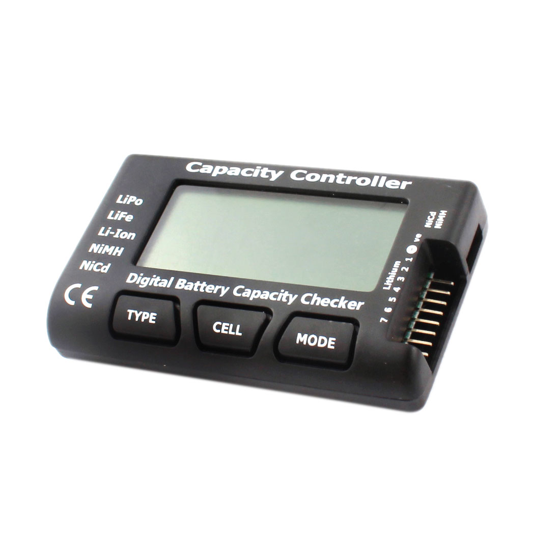 RC CellMeter-7 LCD Digital Battery Capacity Checker Tester Controller for Lipo LiFe Li-Ion NiMH NiCd