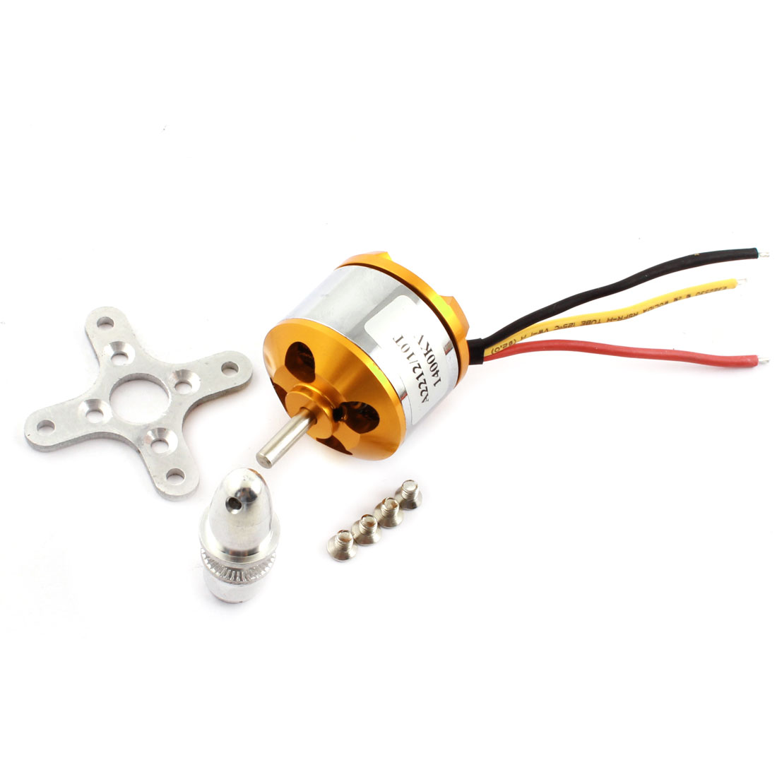 A2212/10T KV930 10 Teeth 3-Wired Outrunner Brushless Motor for RC Airplane Quadcopter