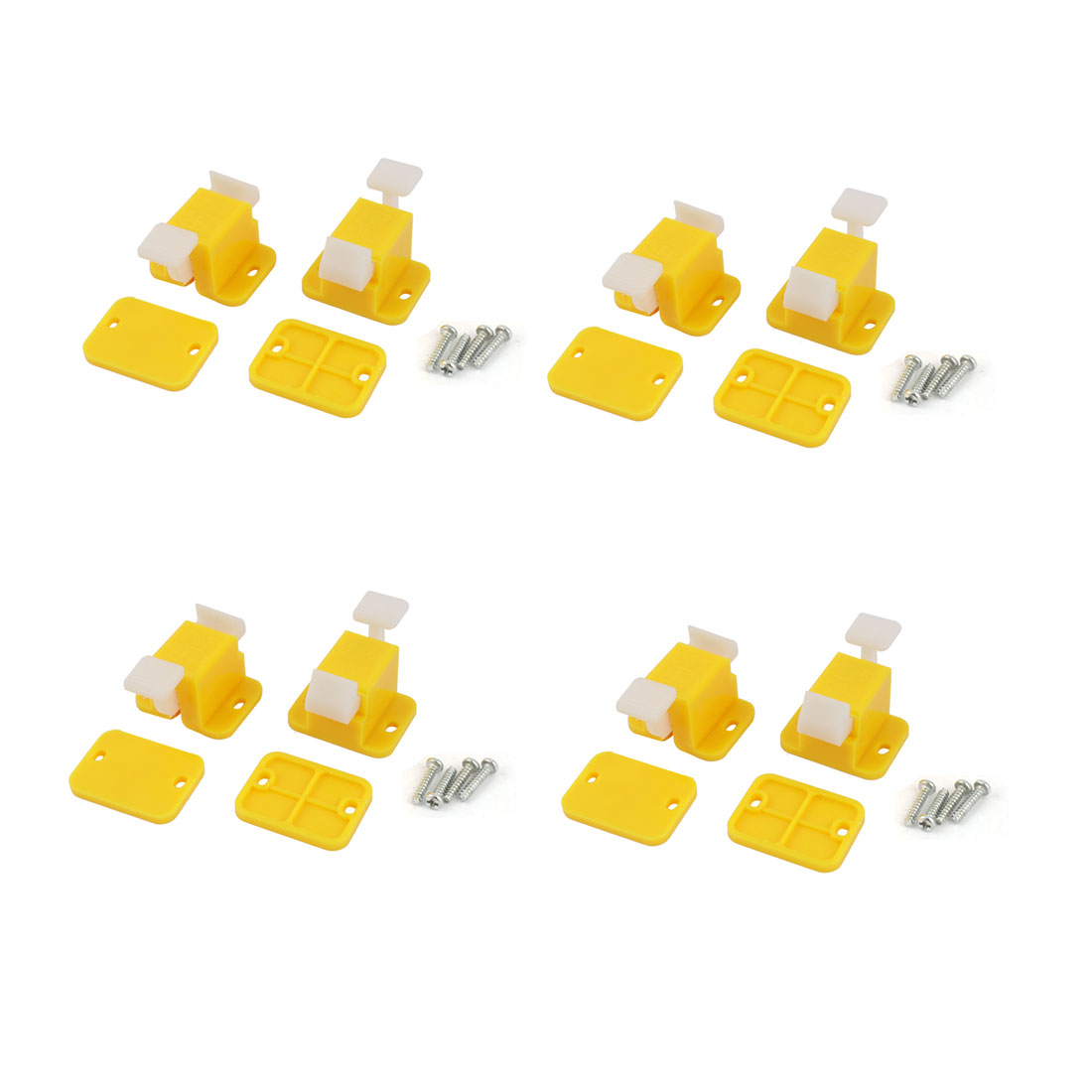 8 Pcs Plastic Prototype Test Fixture Jig Yellow White for PCB Board