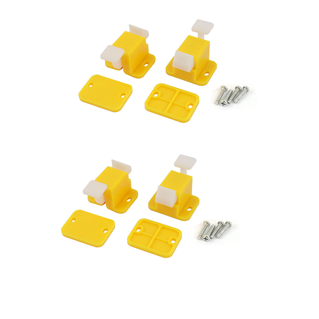 4 Pcs Plastic Prototype PCB Board Test Fixture Jig Yellow White