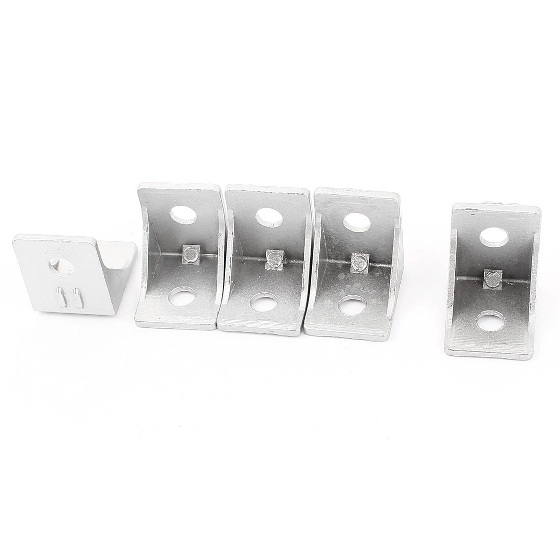 5 Pcs Silver Tone Metal 90 Degree Door Angle Bracket 30mm x 30mm