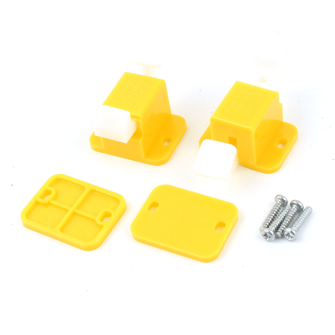 2 Pcs Plastic Prototype Test Fixture Jig Yellow White for PCB Board