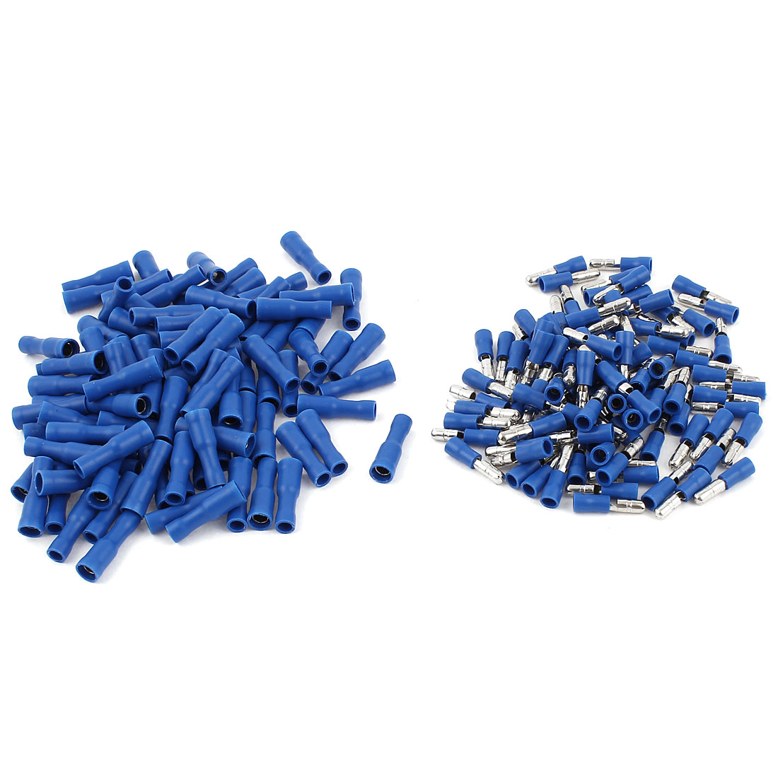 100 Pair 22-16 AWG Cable Wire Connector Male Female Crimp Terminals Blue