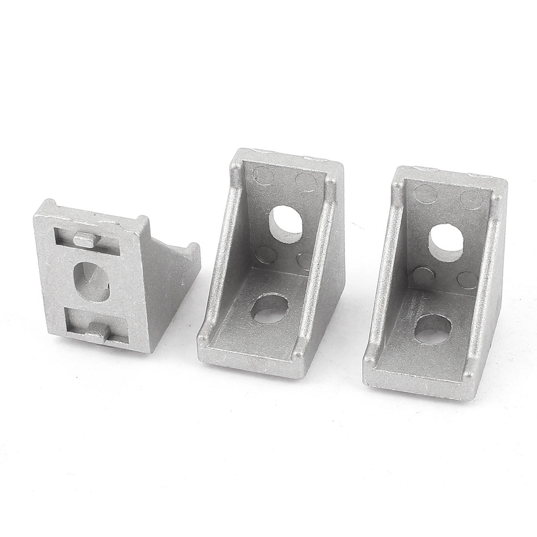3 Pcs Silver Tone Metal 90 Degree Door Angle Bracket 20mm x 20mm