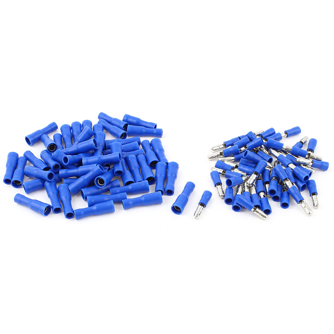 50 Pair 22-16 AWG Cable Wire Connector Male Female Crimp Terminals Blue
