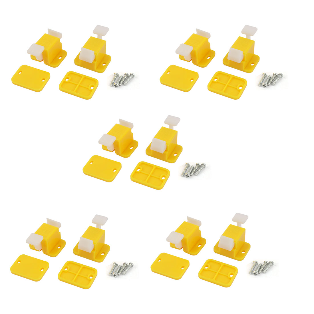 10 Pcs Plastic Prototype Test Fixture Jig Yellow White for PCB Board