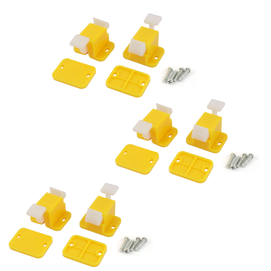6 Pcs Plastic Prototype Test Fixture Jig Yellow White for PCB Board