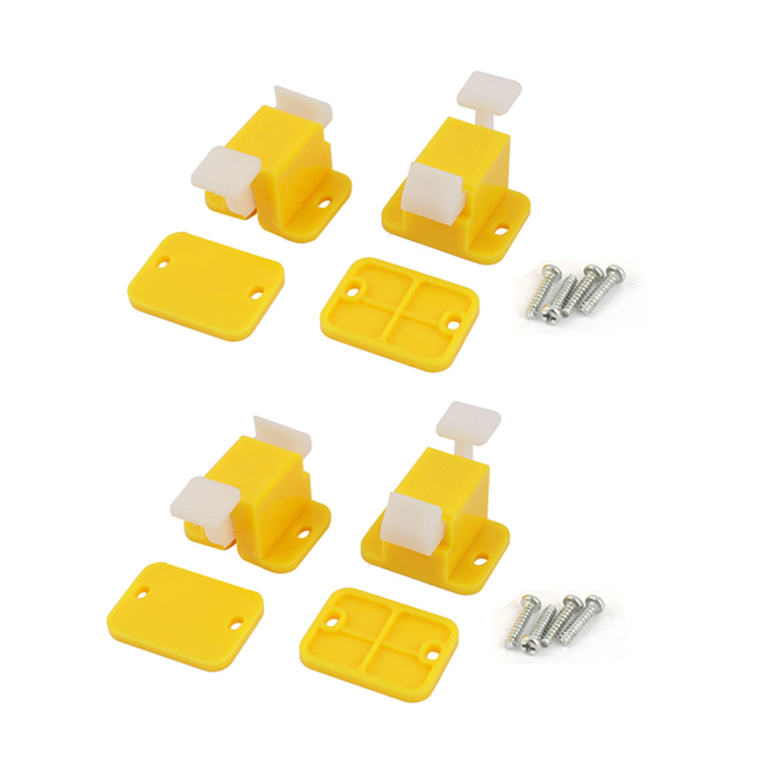 4 x Plastic Prototype Test Fixture Jig Yellow White for PCB Board