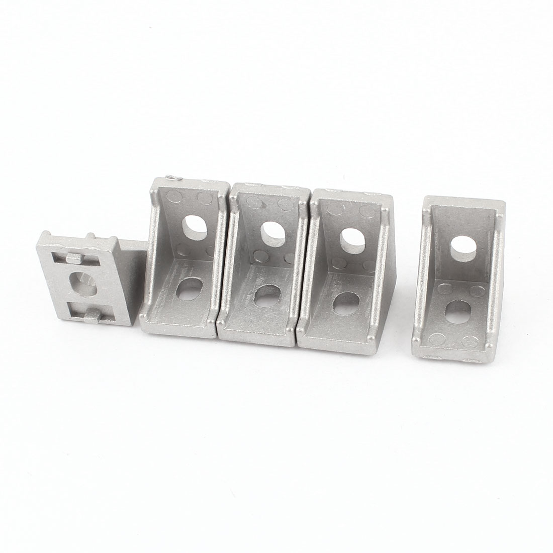 5 Pcs Silver Tone Metal 90 Degree Door Angle Bracket 20mm x 20mm
