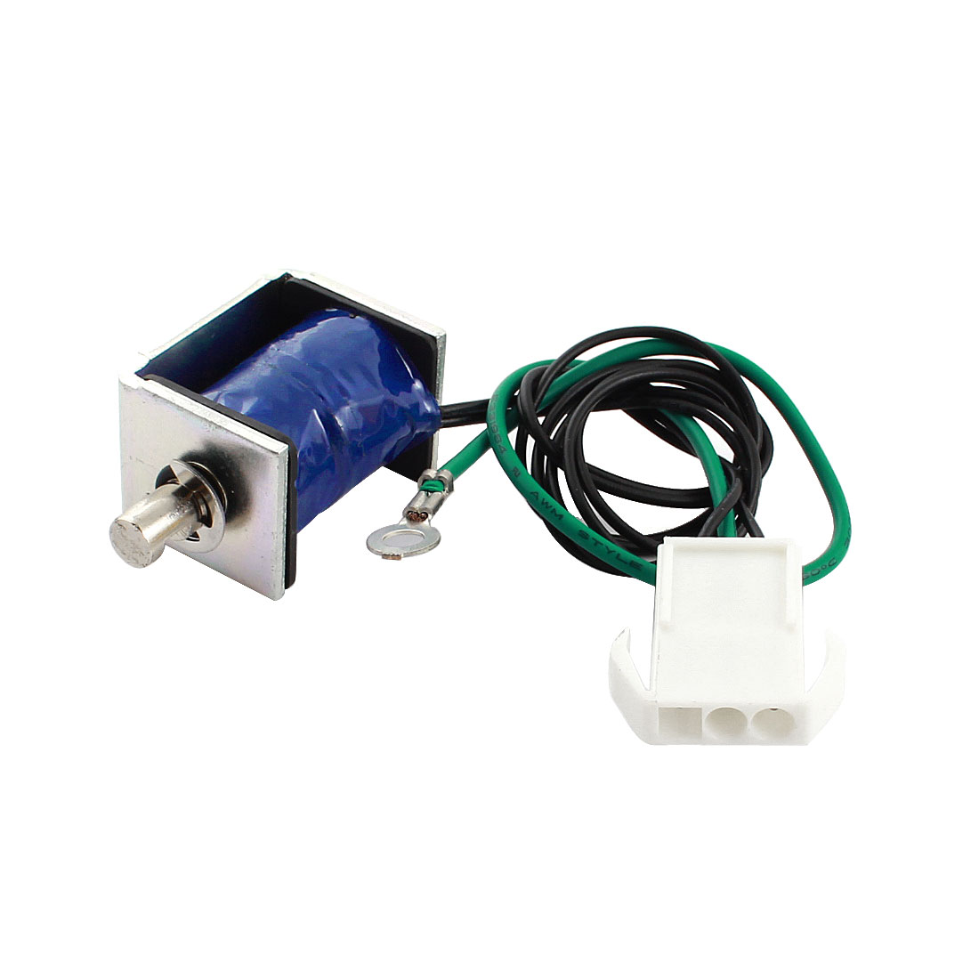 24V 1.09A 26.18W 6mm 150g 10% Open Frame Linear Motion Pull Type DC Solenoid Electromagnet Actuator w Male Connector