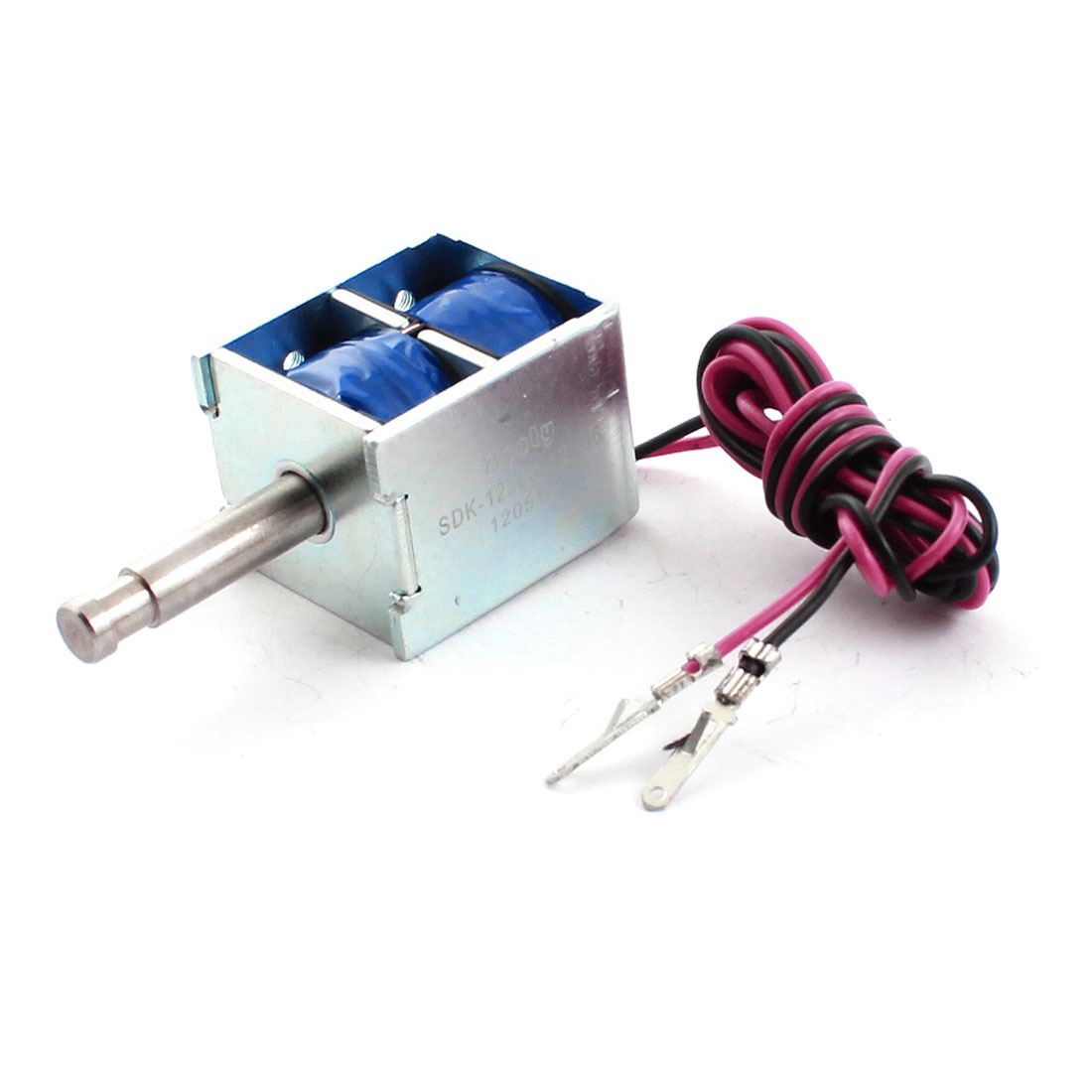 12V 2A 24W 10mm 1000g 100% Pull Type Open Frame DC Solenoid Electromagnet Actuator