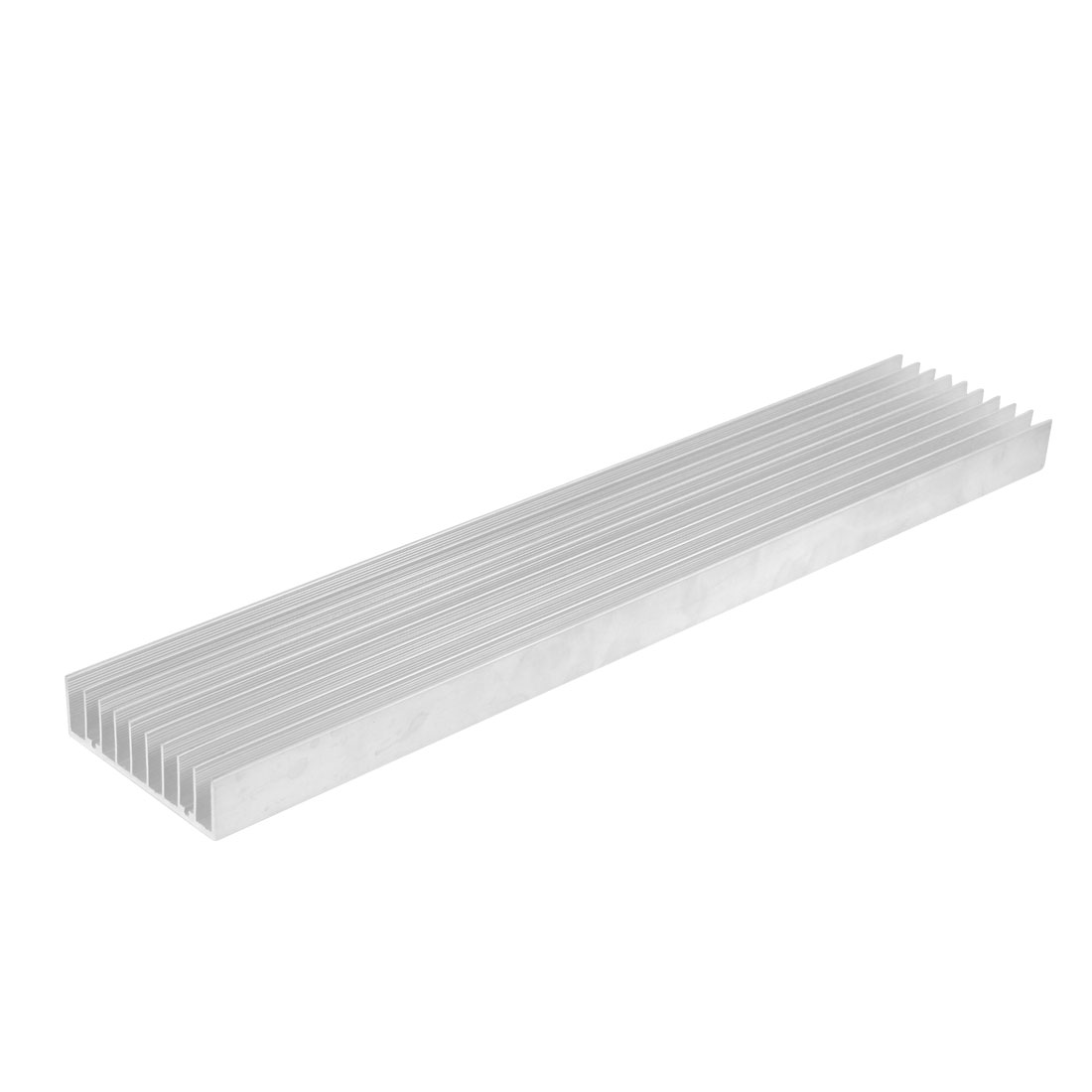 Silver White 400mmx75mmx22mm LED Heat Sink Aluminum Cooling Fin