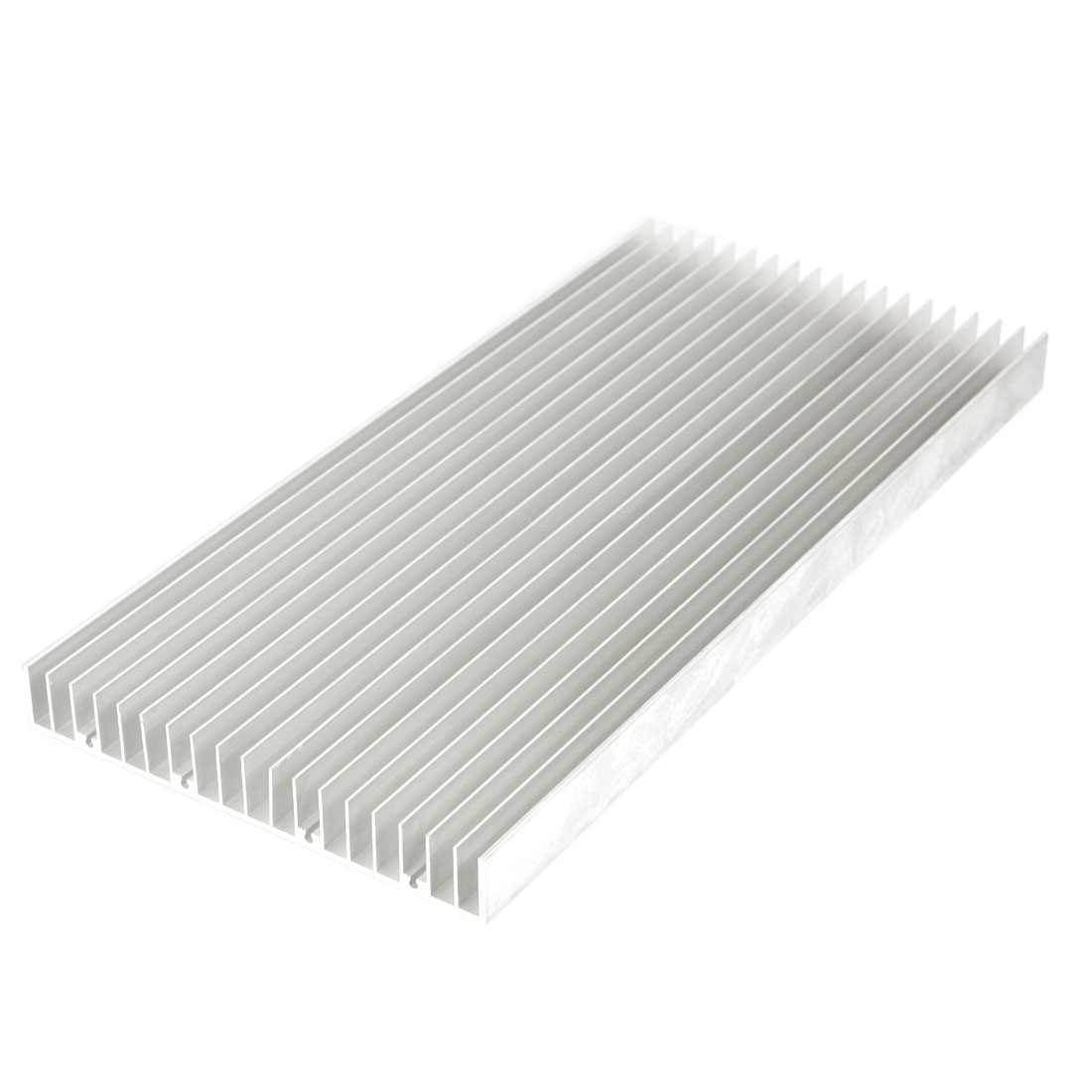Silver White 300mmx140mmx18mm LED Heat Sink Aluminum Cooling Fin