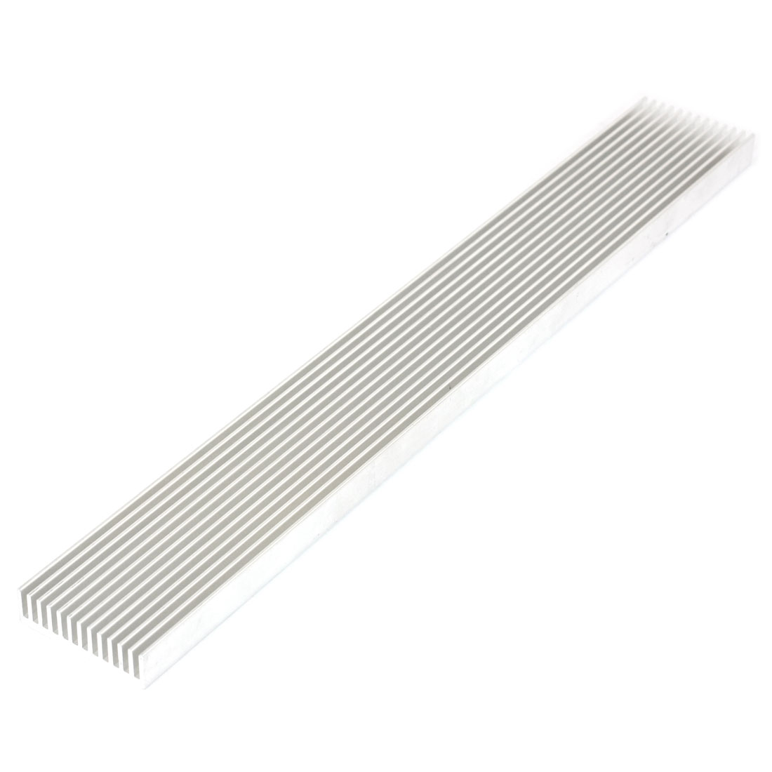 Silver White 300mmx40mmx12mm LED Heat Sink Aluminum Cooling Fin