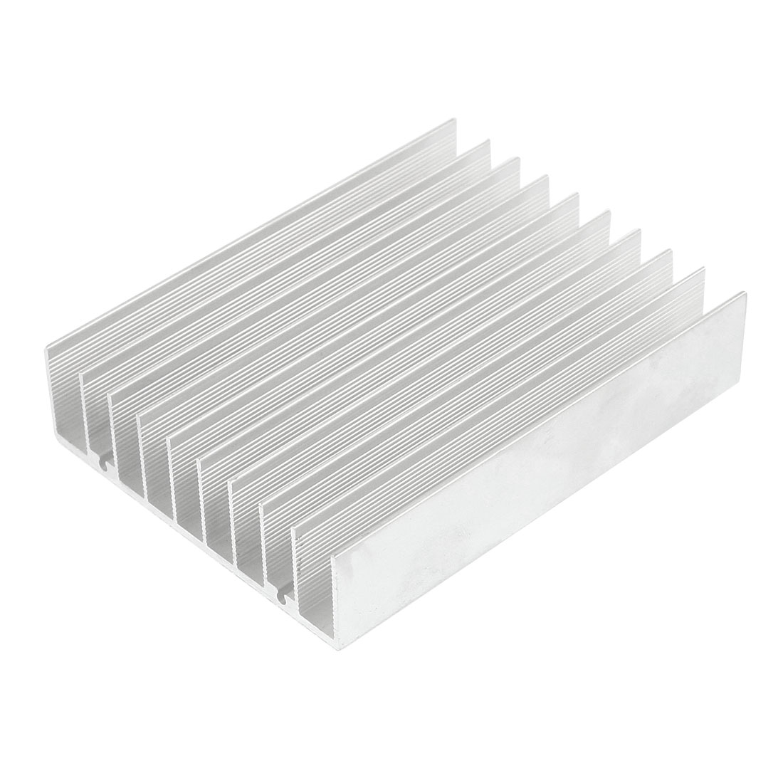 Silver White 100mmx75mmx21mm LED Heat Sink Aluminum Cooling Fin