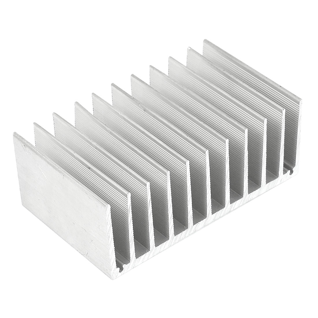 Silver White 100mmx60mmx38mm LED Heat Sink Aluminum Cooling Fin
