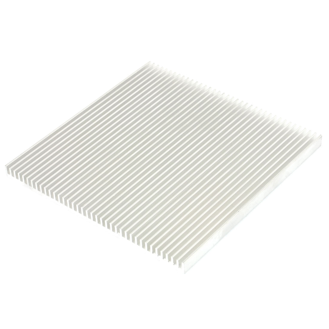 Silver White 126mmx126mmx8mm LED Heat Sink Aluminum Cooling Fin