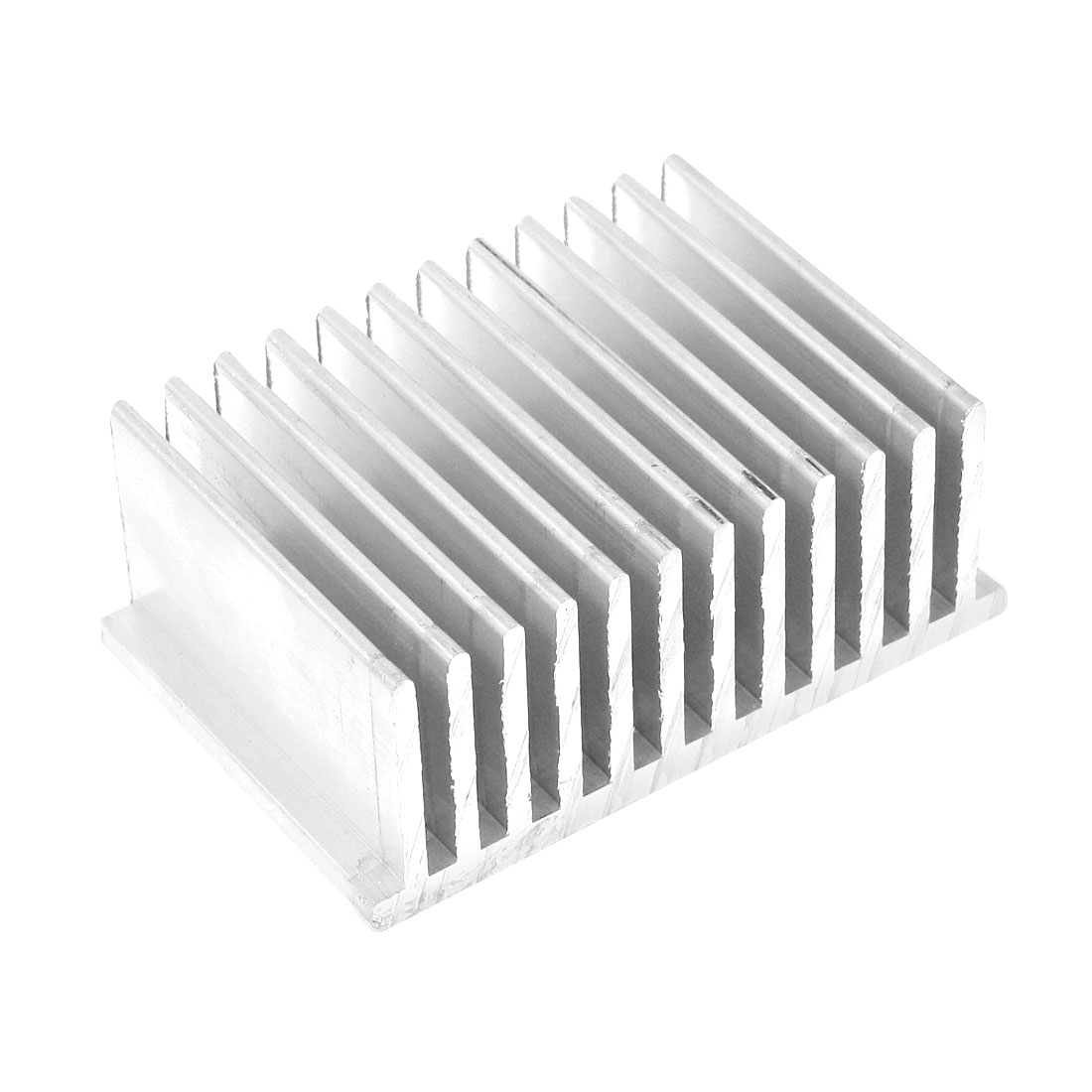 Silver White 75mmx50mmx30mm LED Heat Sink Aluminum Cooling Fin