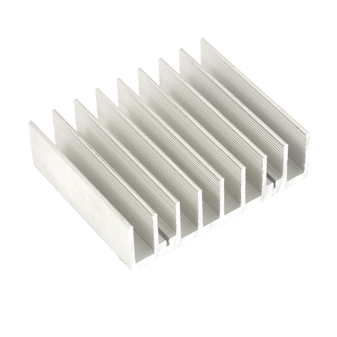 Silver White 60mmx50mmx17mm LED Heat Sink Aluminum Cooling Fin