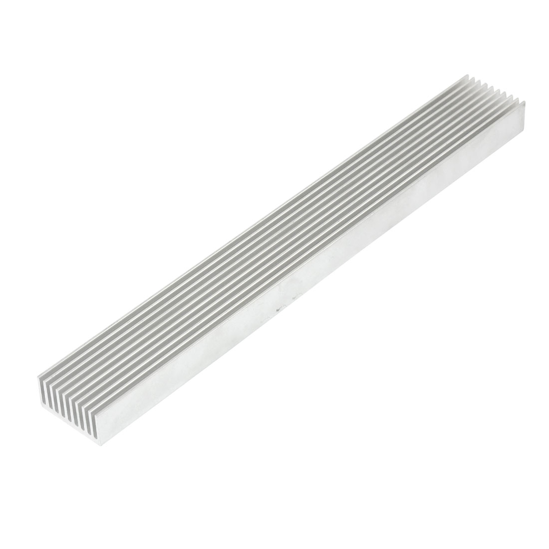 Silver White 196mmx25mmx12mm LED Heat Sink Aluminum Cooling Fin