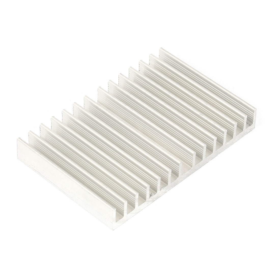 Silver White 78mmx50mmx11mm LED Heat Sink Aluminum Cooling Fin