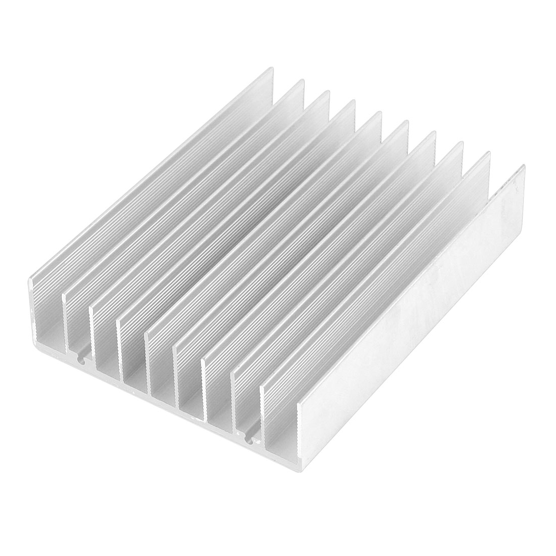 Silver White 100mmx75mmx22mm LED Heat Sink Aluminum Cooling Fin