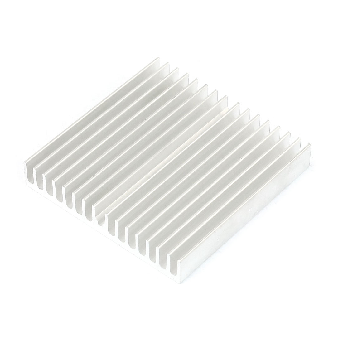 Silver White 60mmx60mmx10mm LED Heat Sink Aluminum Cooling Fin