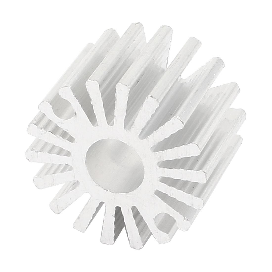 19.5mm x 13mm Sunflower 0.5W Power LED Light Heatsink Aluminium Cooling Fin