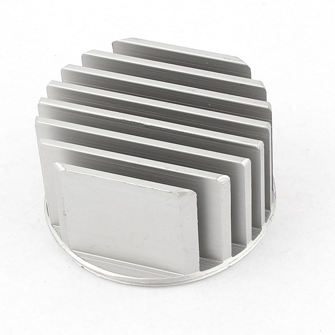 52mm x 30mm Cylinder 5W High Power LED Heatsink Aluminium Cooling Fin