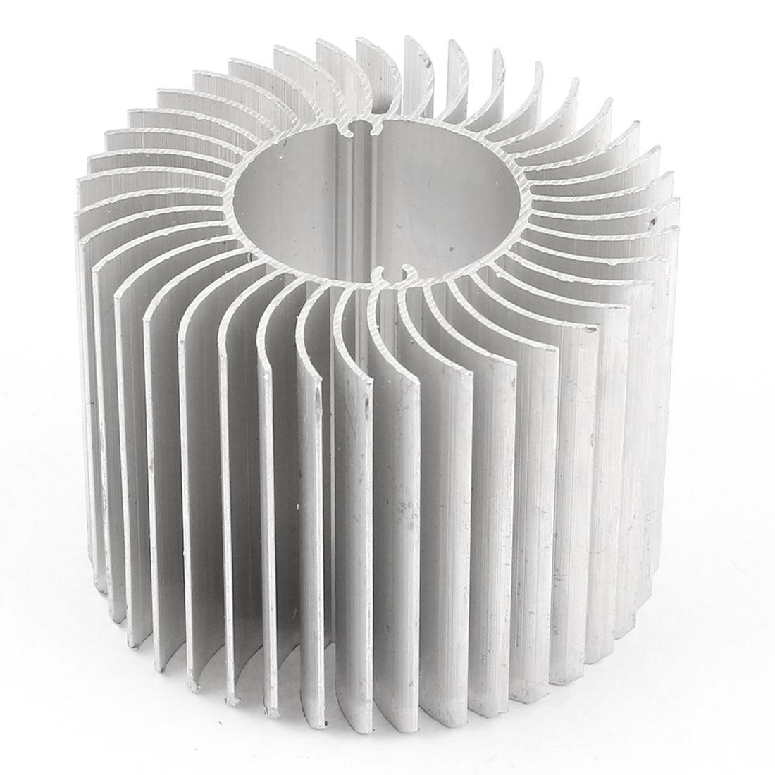 60mm x 45mm Cylinder 4W High Power LED Heatsink Aluminium Cooling Fin