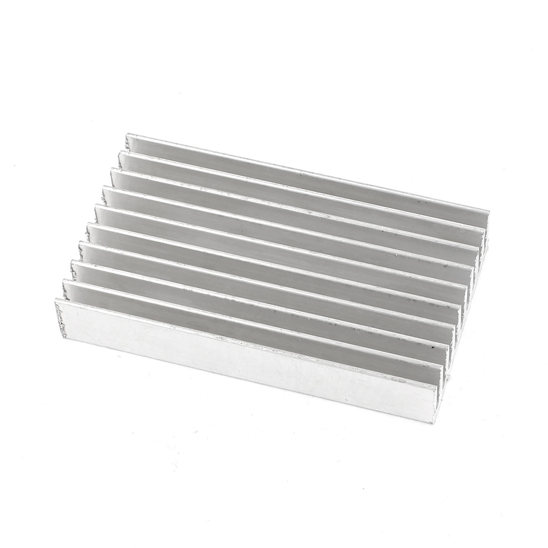 Silver White 60mmx35mmx10mm LED Heat Sink Aluminum Cooling Fin